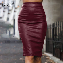 Black Pencil Leather Skirts