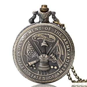 United States Military Series Retro Style Pendant Watch
