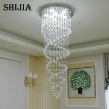 Double Spiral Staircase  Crystal Chandelier