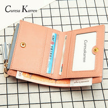 ladies Short Tassel Stitched Wallet