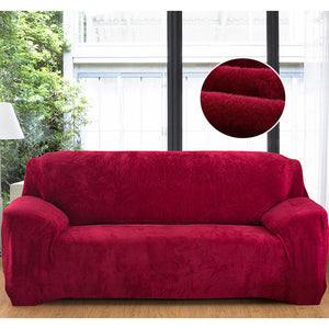 Plush Solid Stretch Sofa Covers
