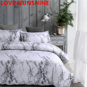 3 Pcs Printed Marble Comforter Bedding Set