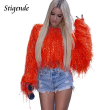 Stigende Tassels Crop Sweater