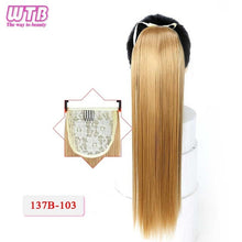 "WTB 22"" Long Straight for Women Heat Resistant Ponytails"