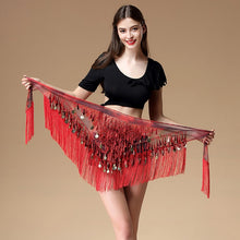 Belly dance scarf  Accessories Sequins Tassel Triangle Wrap