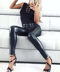 black Sexy leather pants
