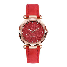 Romantic Starry Sky Wrist Watch Leather Rhinestone