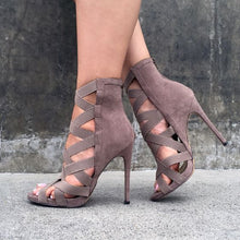 Stretchy Bandage Ankle Strap Pumps