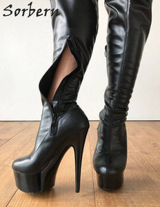 Sexy High Heel Boot With A Size 10 Custom Wide Calf