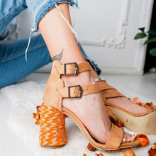 Ankle Strap Rope Heel Sandals
