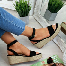 Summer Fashion Women's increasing Wedges High Heel Casual Open Toe Buckles Platform Espadrilles Loafer Mujer Sandals Shoes A690