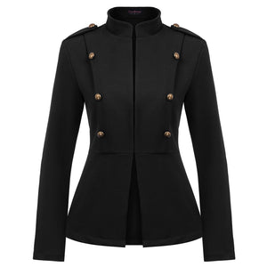 Vintage Slim Collar Buttons Coat Jacket