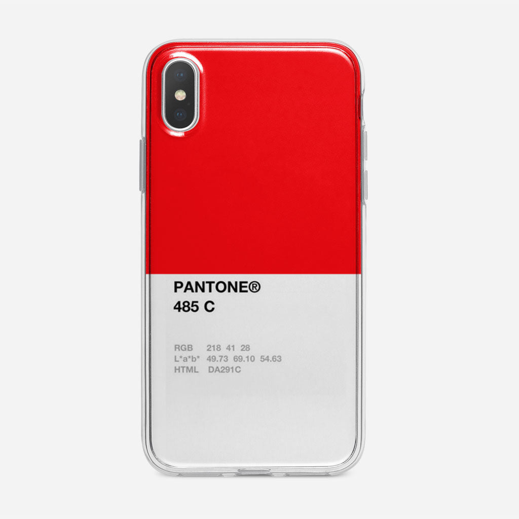 Pantone 485 C iPhone X Case | Flipcasecustom