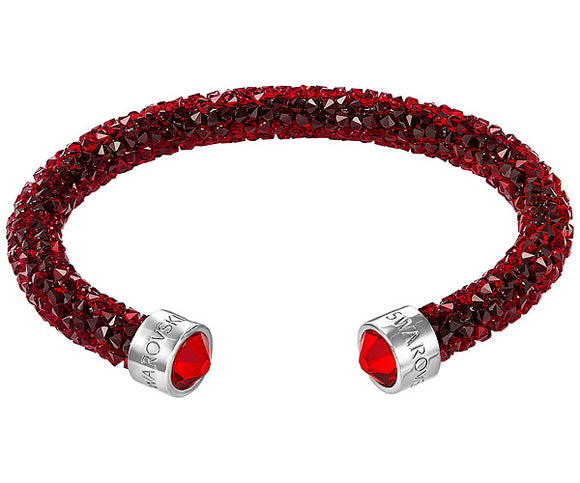 Swarovski Crystaldust cuff, red, stainless steel