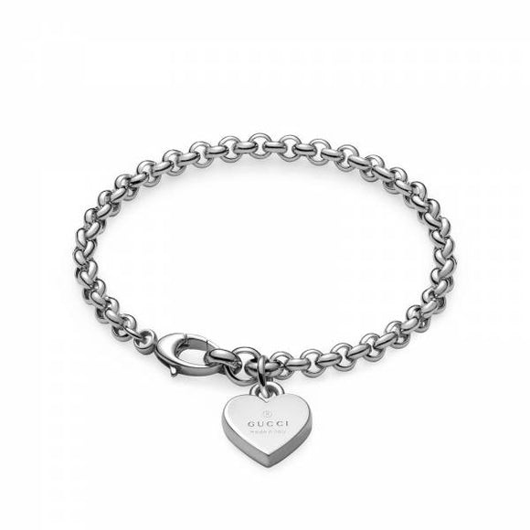 Gucci Heart Bracelet in rhodium plated