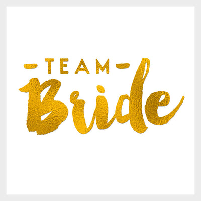 Team Bride Gold Tattoo