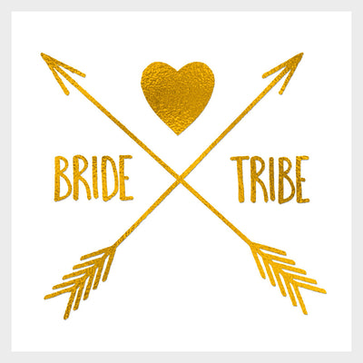 Bride Tribe Heart Gold Tattoo