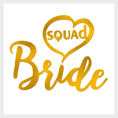 Bride Squad Gold Tattoo