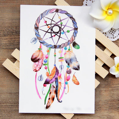 Rainbow Watercolor Dreamcatcher