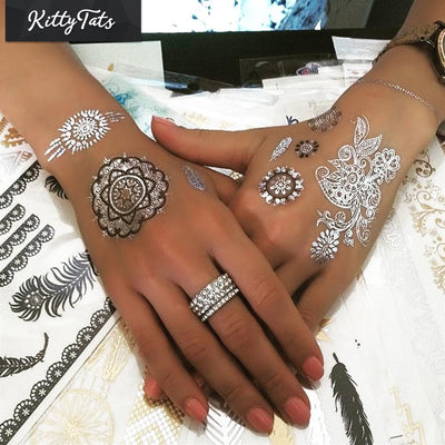 Metallic Henna Shapes