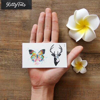 Colorful Modern Butterfly and Deer