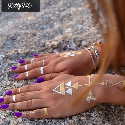 Metallic Henna Bands and Shapes 5