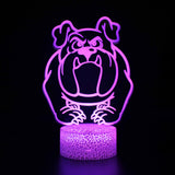 3D lamp BULLDOG