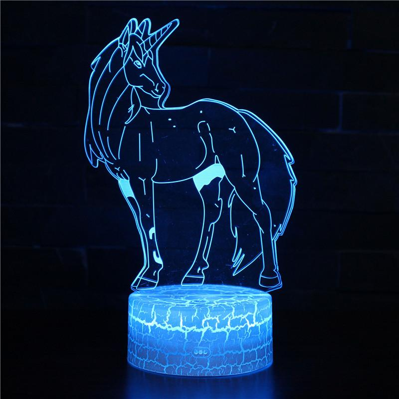 3D lamp UNICORN horse