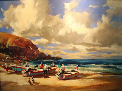 "Punta Lobos  - Acrylic on Canvas (Original) by Brent Heighton. 40""(W)x30""(H) - BH241-000RG"