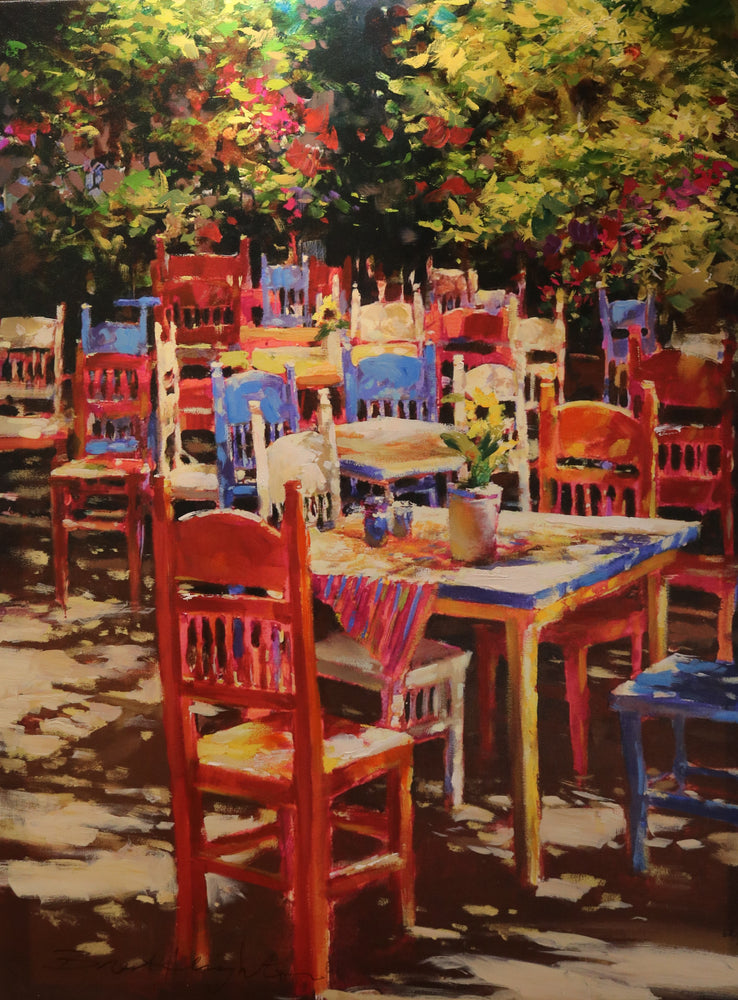 "Outdoor Delight - Acrylic On Canvas (Mixed Media Giglee 62/95) by Brent Heighton. 30""(W)x40""(H) - BH255-062MM"