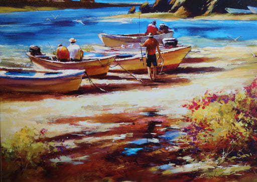 "Gone Fishing - Acrylic On Canvas (Mixed Media Giglee 20/48) by Brent Heighton. 40""(W)x30""(H) - BH257-020MM"