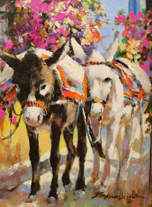 "Dos Amigos - Acrylic on Panel(Original) by Brent Heighton. 12""(W)x16""(H) - BH268-000RG"