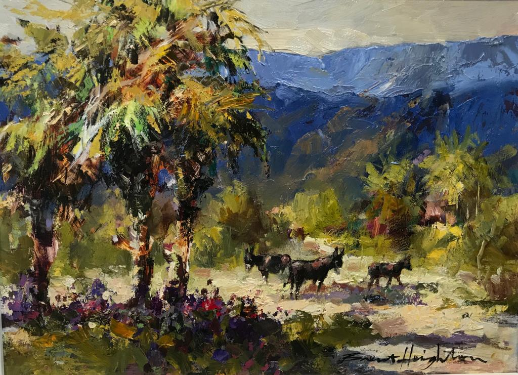 "The Three Amigos- Acrylic on Panel(Original) by Brent Heighton. 16""(W)x12""(H) - BH270-000RG"