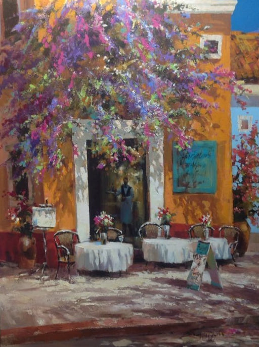 "Buen Apetito  - Acrylic on Canvas (Original) by Brent Heighton. 35.5""(W)x47.5""(H) - BH289-000RG"