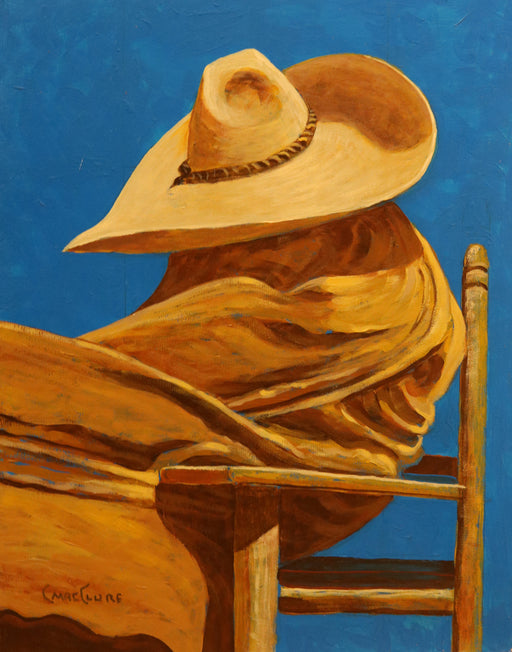 "Cabo Siesta - (Cabo Nap) Acrylic on Panel(Original) by Chris MacClure. 9""(W)x12""(H) - CM161-000RG"