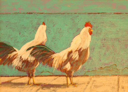 "Morning Walk - Acrylic on Canvas Paper(Original) by Chris MacClure. 5.5""(W)x4""(H) - CM180-000RG"