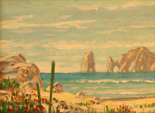 "Cabo Afternoon - Acrylic on Canvas Paper(Original) by Chris MacClure. 5.5""(W)x4""(H) - CM184-000RG"