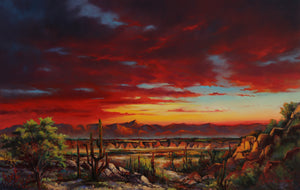 Sunset at Arroyo by Jonn Einerssen