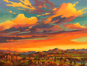 "High Plateau - Oil on Canvas (Original) by Jonn Einerssen. 40""(W)x30""(H) - JE185-000RG"