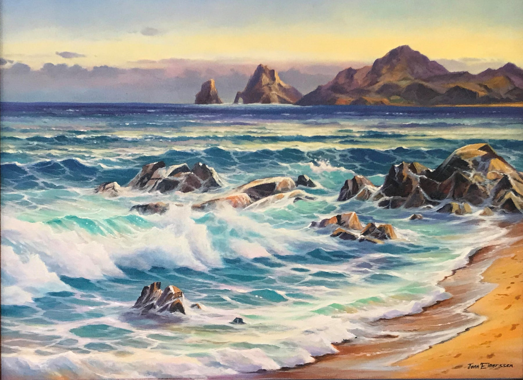 "Lands End-  Oil on Canvas (Original) by Jonn Einerssen. 40""(W)x30""(H) - JE197-000RG"