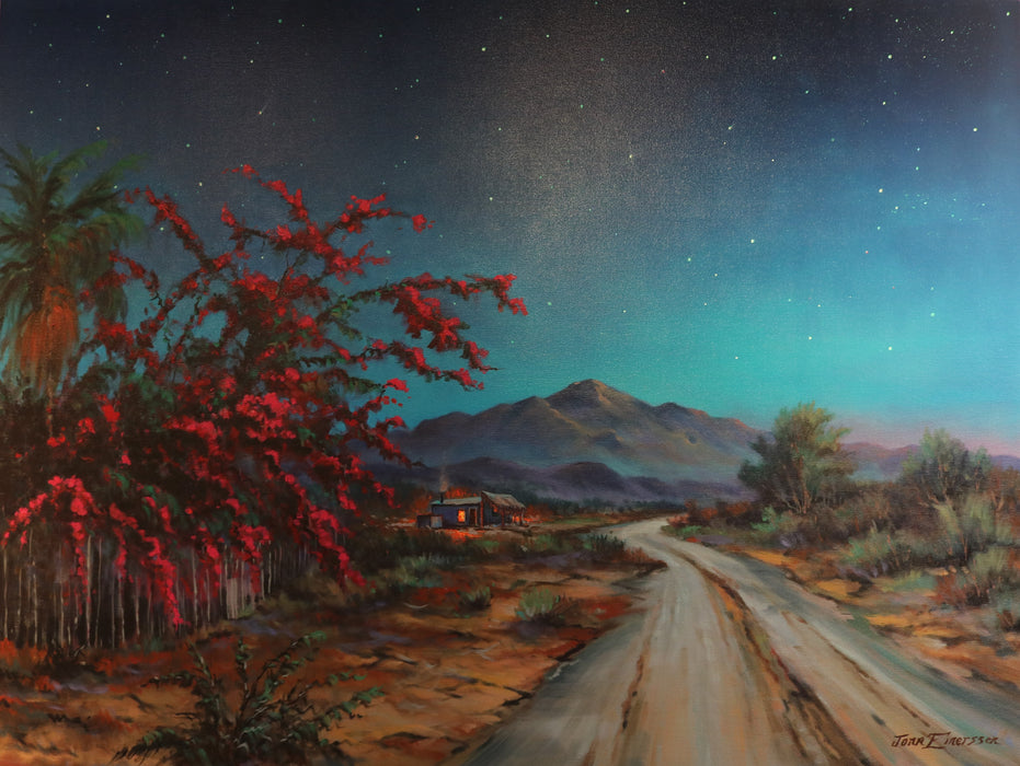 "Midnight in Baja - Oil on Canvas (Original) by Jonn Einerssen. 40""(W)x30""(H) - JE223-000RG"