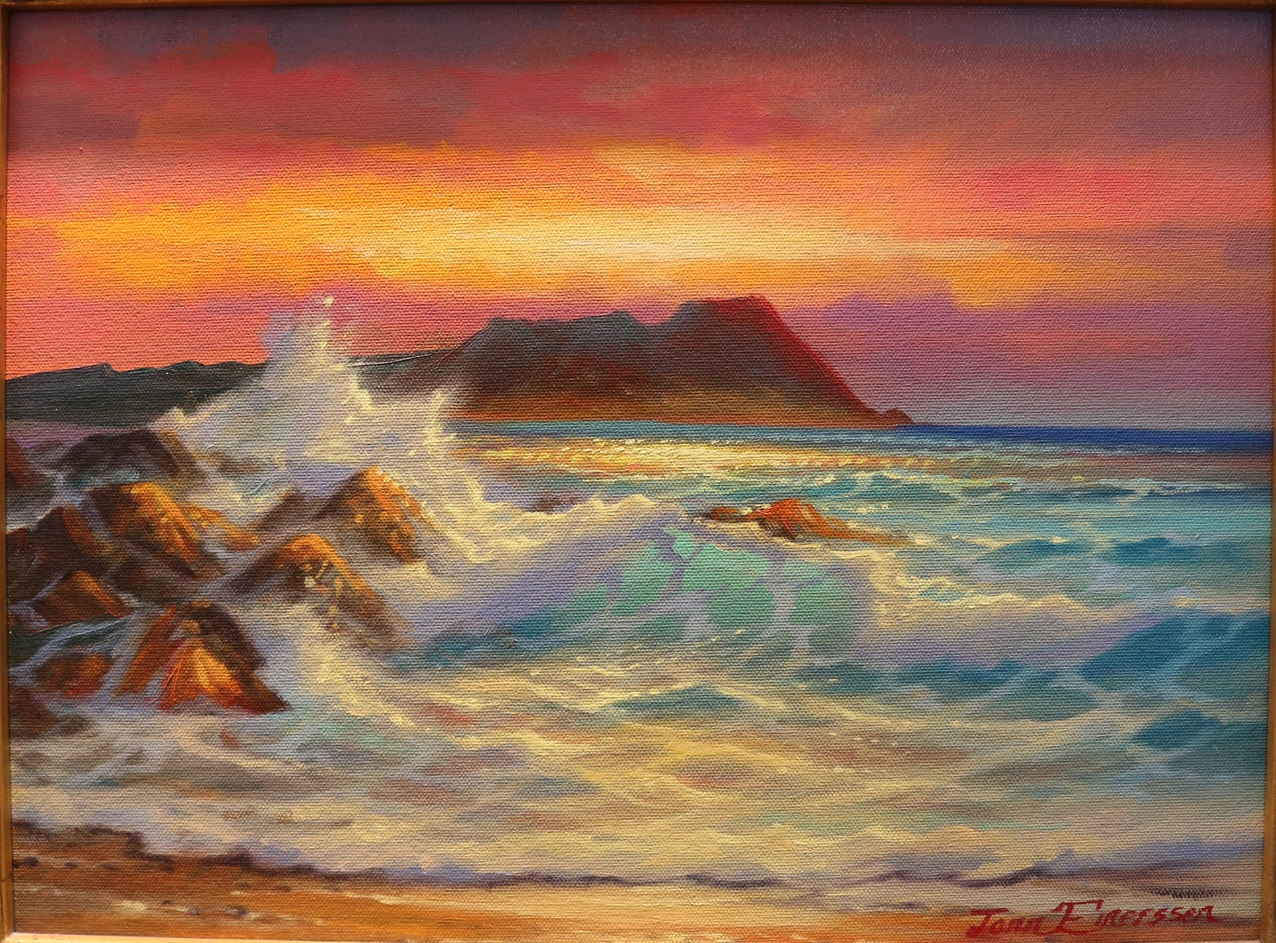 "Morning Breaker - Oil on Canvas (Original) by Jonn Einerssen. 16""(W)x12""(H) - JE224-000RG"