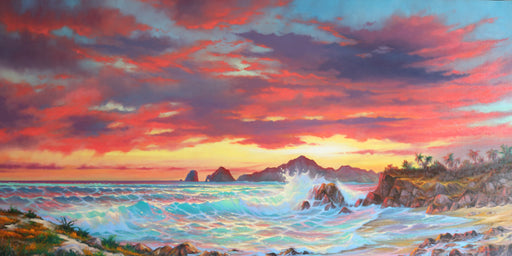 "Cielo en el Mar - (Sky in the Sea) Oil on Canvas (Original) by Jonn Einerssen. 72""(W)x36""(H) - JE269-000RG"