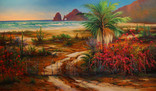 "In a Desert Garden - Oil on Canvas (Original) by Jonn Einerssen. 48""(W)x28""(H) - JE273-000RG"