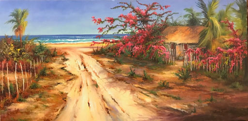 "Casita Bugambilia - Oil on Canvas (Original) by Jonn Einerssen. 40""(W)x20""(H) - JE275-000RG"