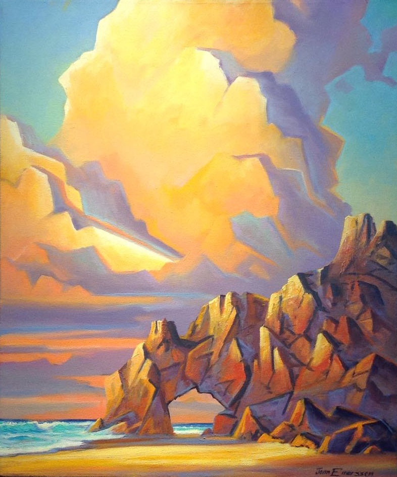 "Land's End- Oil on Canvas (Original) by Jonn Einerssen. 20""(W)x24""(H) - JE282-000RG"