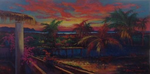 "Hotel California- Oil on Canvas (Original) by Jonn Einerssen. 24""(W)x16""(H) - JE293-000RG"