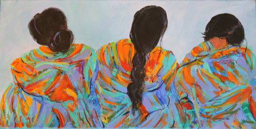 "Trio - Acrylic on Canvas(Original) by Marilyn Hurst. 16""(W)x8""(H) - MH156-000RG"