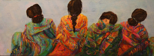 "Hermanas Quartet - Acrylic on Panel(Original) by Marilyn Hurst. 16""(W)x16""(H) - MH162-000RG"