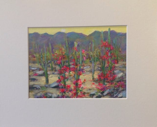 "Desert Garden - Acrylic on Panel (Original) by Marilyn Hurst. 7.5""(W)x5.5""(H) - MH171-000RG"